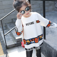 Girls Sweater Autumn Spring Cartoon Knitted Girls Outerwear Long Sleeve Sweaters Pullovers Children's Pattern Clothing Kids Clot