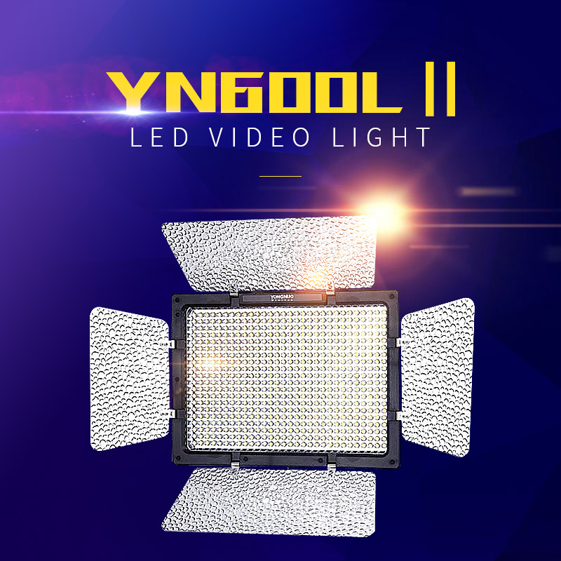 YONGNUO YN600 <font><b>II</b></font> LED Video Light <font><b>YN600L</b></font> <font><b>II</b></font> 5500K 2.4G Wireless sync Support telephone control 600 Panel with Indoor fill light image