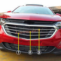 3*ABS Bright Front Center Radiator Grille Mouldings For Chevrolet Equinox 2018