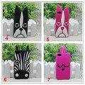 3d lindo animal perro bulldog conejito zebra owl cat soft de silicona de dibujos animados mj case cover para iphone 4 4s 5 5S