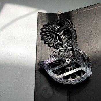 17 T Fahrrad Keramik Lager Carbon Faser Jockey Pulley Wheel Set Schaltwerke Guide Rad Für Shimano DURA ACE/ ultegra