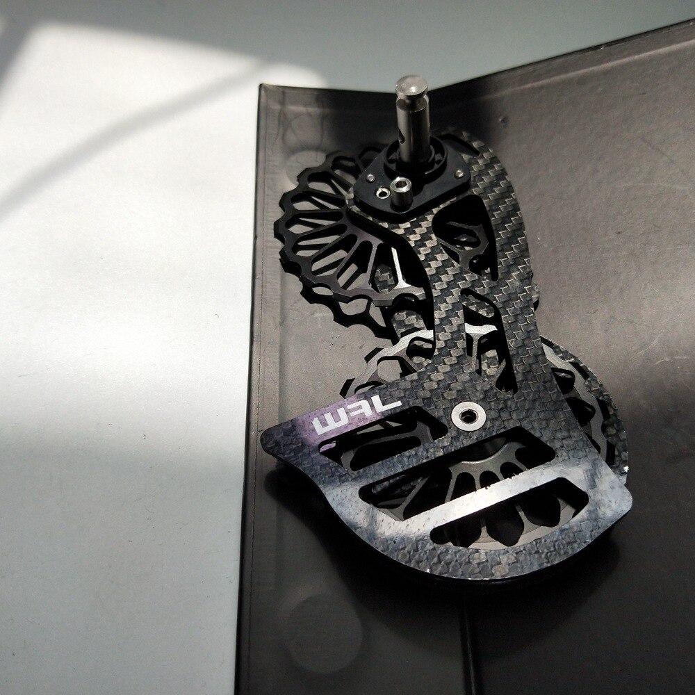 17 T vélo céramique roulement Fiber de carbone Jockey poulie jeu de roues arrière dérailleurs Guide roue pour Shimano DURA ACE/Ultegra