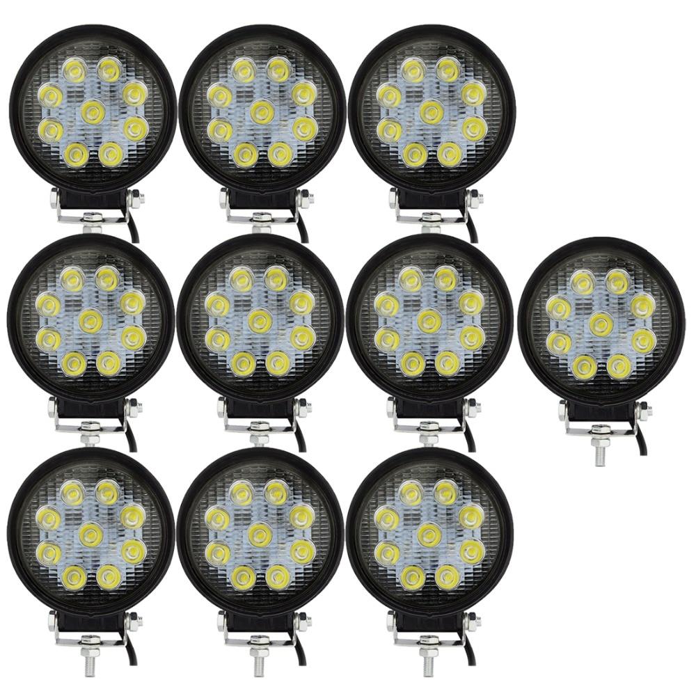 10x Safego 4inch 12v 24v 27W led work light spot flood LED Working lights Lamp 4X4