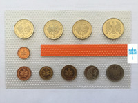 10pcs Federal Republic of Germany West Germany 1994 refined coins Original plastic seal collection gift presentNot circulated