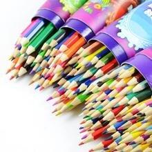 High Quality Wooden Colored font b Pencils b font Set 12 18 24 36 Colors font