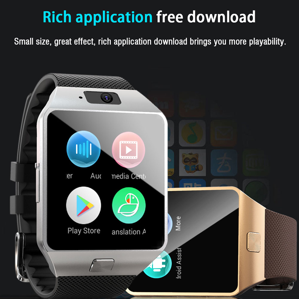 US $33 99 30% OFF LEMFO QW09 Android 4 4 Smart Watch 300 mAh Smartwatch  Support APP download Weather Forecast Multiple dials for Smart Watch Men-in