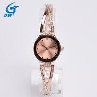 Fashion Luxury Rhinestone Bracelet Watch Women Rose Gold Quartz Watch Ladies Watch Hour Gift Relojes Mujer