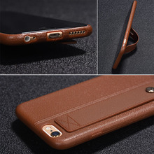 цены на Phone Case Imitation Leather With Bracket  On The For iPhone 5 5S SE 6 6S 7 8 Plus Back Cover Coverage Soft TPU Protective Cases  в интернет-магазинах