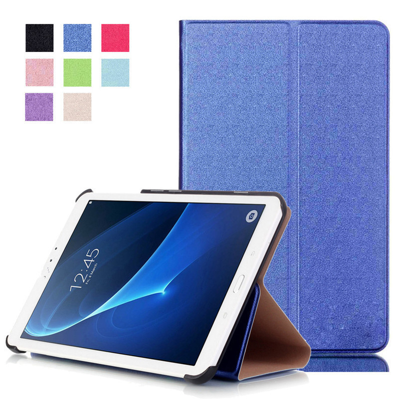 For Samsung Galaxy Tab A 10.1 2016 T580 T585 T580N T585N Luxury Stand Folio Flip PU Leather Skin Magnetic Smart Sleep Cover Case