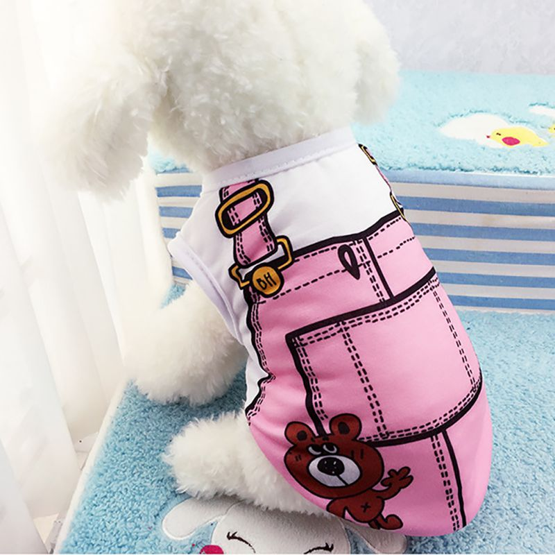 Spring Puppy Pet Soft Cotton Vest Coat Dog Summer Clothes T-Shirt Dog Accessories