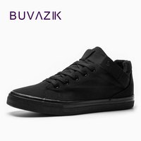 BUVAZIK 2018 spring casual sneakers for men black or white fashion canvas shoes breathable fabric vulcanized shoes adult male