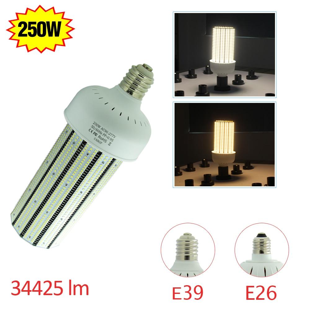 ul 250 watt led corn cob bulb lights 30000lm mogul base replace 1000
