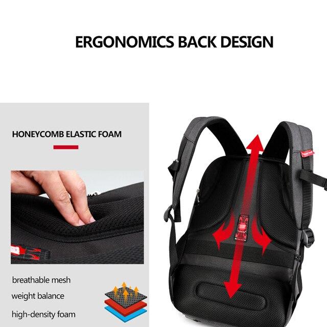 Waterproof Anti Theft Tigernu 15.6inch Laptop Backpack  Men Women Backpacks Slim School Bags Bagpack for Teens Black Grey 4