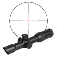 Nowy Styl 1.5X-4X Polowanie Sniper Tactical Gorąca Sprzedaż Rifle Scope Z Czarnym Klapki otwórz Obiektywu Czapki Dla Sportu Na Świeżym Powietrzu OS1-0165B