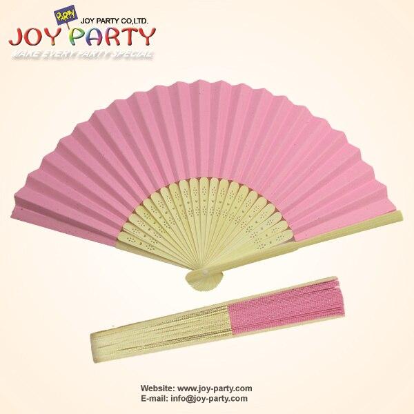 10ks / lot 21cm růžová barva papír ruční ventilátor svatební party DIY dekorace propagační dárky