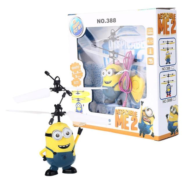 RC Minions Aircraft Induction Helicopter Kid Child Toys