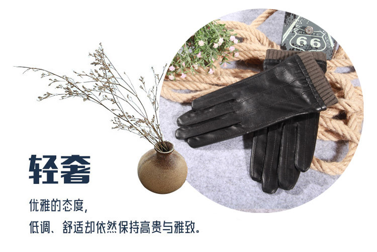 a19957f934a45 Q45 New Fashion Leather Gloves Men's Fine Goatskin with Suede Winter Warmth  Bike Leather Glove Lovers Winter Gloves Men 1 1-2 1-4 4