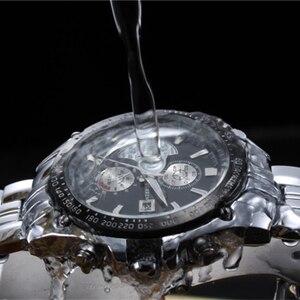 Image 3 - ساعة عصرية من CURREN مصنوعة من الفولاذ المقاوم للصدأ بالكامل للرجال ساعات يد عسكرية عسكرية من الكوارتز للرجال مقاومة للماء 30 متر 8083