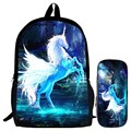Special Offer Suit Hot Oxford 16-Inch Printing Cool Mythical Animals Horse Children School Bags for Teenager Boys Kids Backpacks