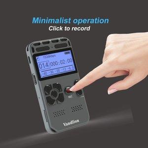 Image 4 - Vandlion professionnel enregistreur vocal numérique activé par la voix 16GB PCM enregistrement longue durée de vie de la batterie lecteur de musique MP3 V35
