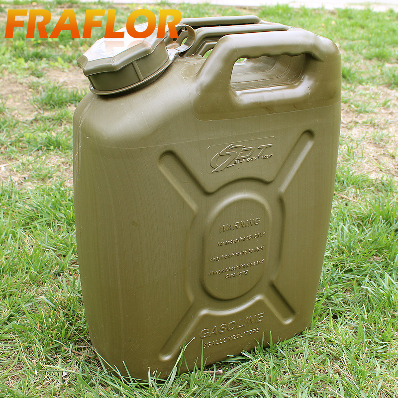 Thickened 20L Oil Can Engineering Plastic Spare Fuel Tank Jerrycan Anti-Static Diesel Barrel Explosion-proof Gasoline Jerry Can