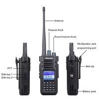 dual band vhf uhf Retevis Ailunce HD1 Dual Band DMR רדיו דיגיטלי Talkie Walkie (GPS) VHF UHF HF משדר Ham Radio חובב + אביזרים (2)