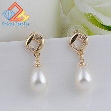 hot deal buy best lady special design luxury bohemian wedding simulated pearls earring women fashion dangle jewelry drop earrings