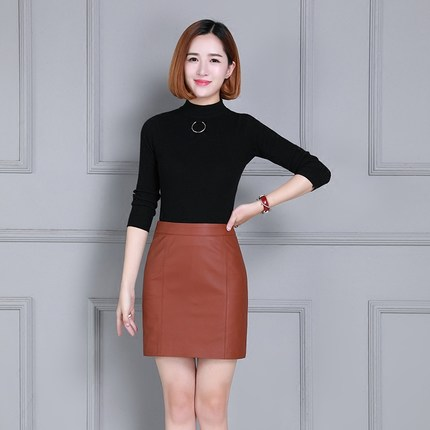 New sheepskin Leather Skirt K74 in Skirts from Women 39 s Clothing