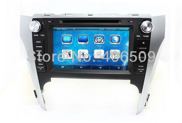 """8"""" Head Unit Car DVD Player GPS Navigation for Toyota Camry 2012 with Radio BT TV Map USB SD AUX Audio Video Stereo Navigator"""