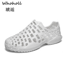 Whoholl Brand 2019 Mens Summer Hollow Out Breathable Beach Sandals Casual Outdoor Slippers Men Male  45
