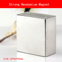 1PCS Block 50x50x20mm N52 Super Powerful Strong Rare Earth Block NdFeB Magnet Neodymium N38 N52 Magnets