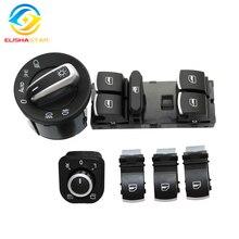 6 uds espejo de ventana de faros interruptor V W J etta 6 Golf GTI 5 6 Tiguan Passat B6 CC 5ND959857 5ND941431B 5ND 941 B 431