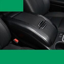 Lsrtw2017 auto in fibra di carbonio bracciolo copertura per toyota highlander 2013 2014 2015 2016 2017 2018 2019 3rd generazione