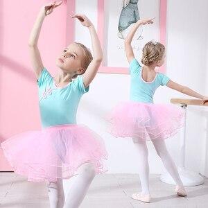 Image 1 - Ba Lê Leotard Cotton Ba Lê Đầm Yếm Bé Gái Quần Áo Tập Tutu Dancewear Thể Dục Dụng Cụ Phù Hợp Với Nơ Kid Bộ Trang Phục Gai