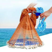 Flying Disc American Hand Cast Fishing Net with Lead Sinkers 300 360 420 480 540 600 720cm Easy Throw Fishing Net Fishing Tools
