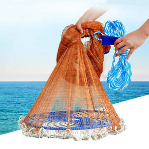 Image 1 - Flying Disc American Hand Cast Fishing Net with Lead Sinkers 300 360 420 480 540 600 720cm Easy Throw Fishing Net Fishing Tools