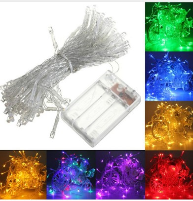 4M 40 LED Battery Operated LED String Lights for Xmas Garland Party Wedding Decoration Christmas Fairy Lights Waterproof
