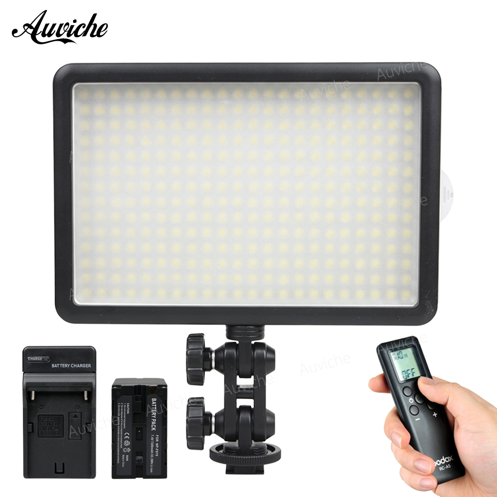 все цены на Godox LED308Y 3300K LED Video LED Light with F970 battery for DSLR Camera Camcorder Fill Light for Wedding News Interview