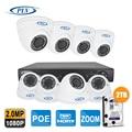 1920*1080P Full HD Security Camera System 1080P CCTV Video Surveillance 8CH POE NVR Kit 2.8~12mm zoom IP POE Camera Set 2TB HDD