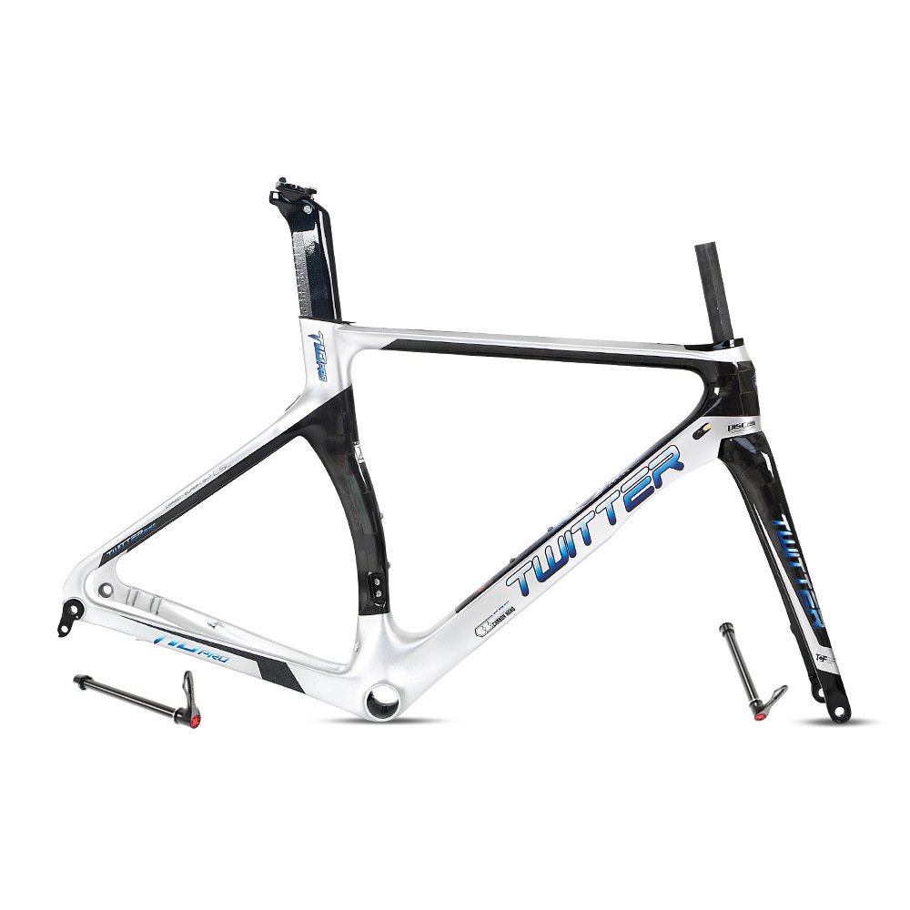 Road Carbon Frame Twitter T10pro Disc-cutting Thru-axle Shaft 700c Disc Brake Come With Fork Seatpost