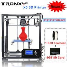 Tronxy X5 3D Принтер Алюминиевая Конструкция DIY 3D Принтеры Комплект 210*210*280 мм 3d печать С 1 Рулона Нити 8 ГБ SD Карты Как Подарок