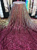 African Lace tulle Fabric 2019 High Quality African Sequin Lace Fabric for wedding aso ebi
