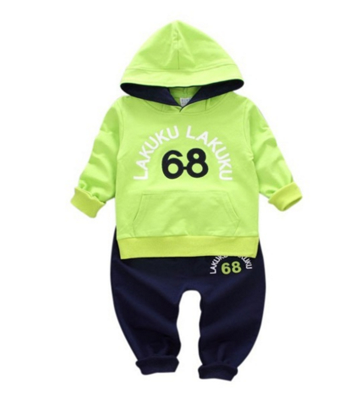 2018 Baby Clothing Sets Children Boys Girls Fashion Clothes Kids Hooded Toddler Tracksuit Autumn T-shirt And Pants 2 Pcs Suits цена