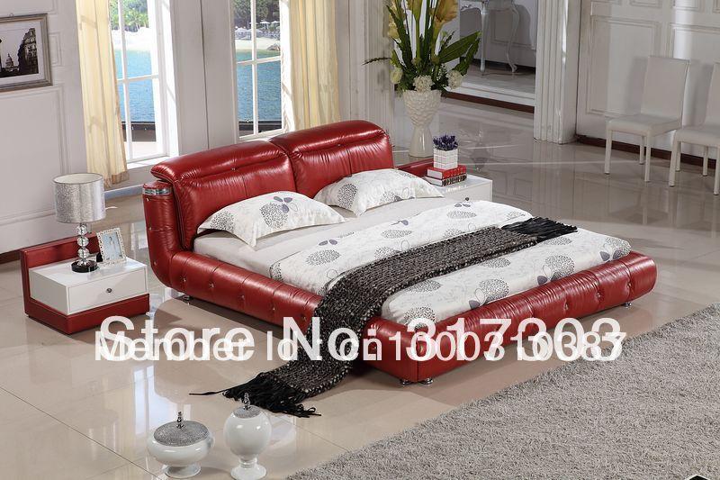 US $450.0 |Mobili camera da letto in pelle, letto morbido letto, 1.8  matrimoniale letto, prezzo all\'ingrosso della fabbrica offerto, spedizione  del ...