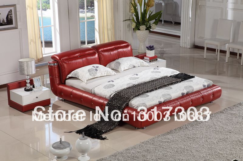 bedroom furniture leather bed, soft bed, 1.8 kingsize bed, factory wholesale price offered, sea shipment  modern design H8069 kindergarten school furniture school furniture price list kids wholesale price with free shipment 50 chairs to vietnam