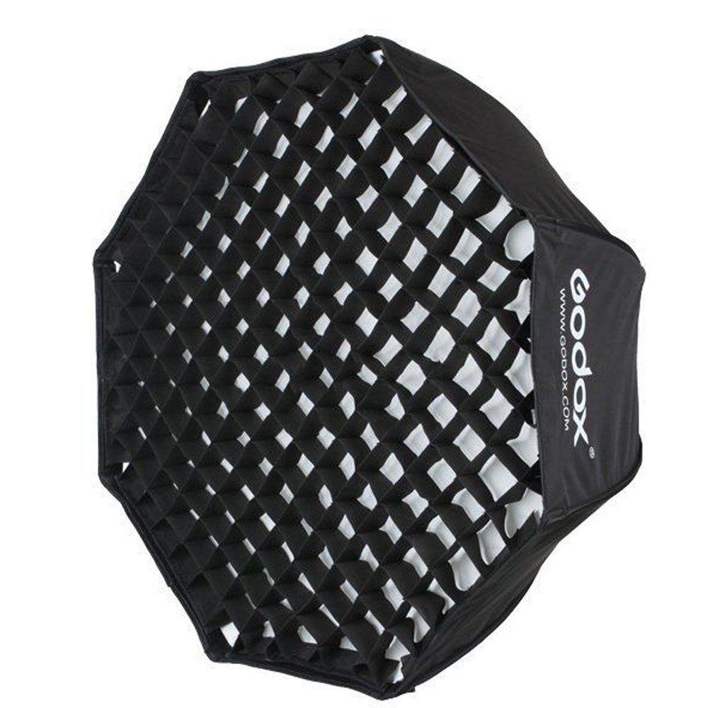 GODOX 120cm / 48 Portable Foldable Octagon Umbrella Softbox Photo Studio Flash Speedlite Diffuser Reflector with Honeycomb Grid