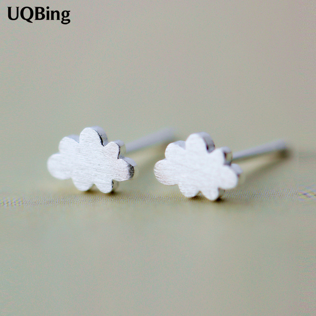 Newest Plata 925 Sterling Silver Earrings Cute Clouds Stud Earrings Pendientes Plata Brincos