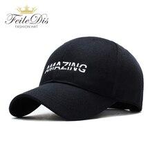 купить [FEILEDIS]Black Cap Solid Color Baseball Cap Snapback Caps Casquette Hats Fitted Casual Gorras Hip Hop Dad Hats JMM-27 по цене 458.69 рублей