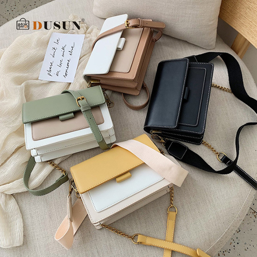 Elegant Handbag Flip Women Small Square Bag 2019 Fashion Quality PU Leather Designer Women's Bag Casual Shoulder Messenger Bag
