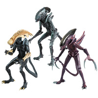 NECA Alien vs. Predator Collectible Model Toys Action Figure Toys 3 Different Alien Statue Collection Model Decoration